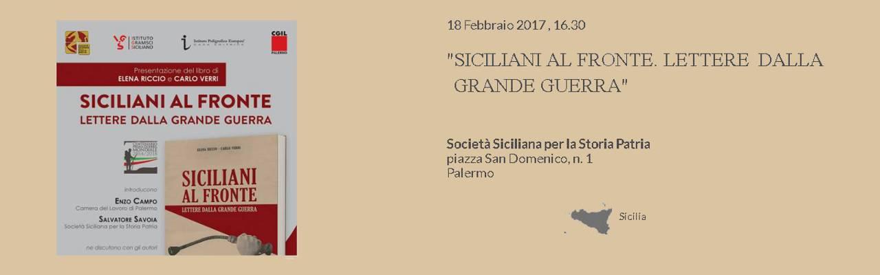 """Presentazione """"Siciliani al Fronte. Lettera della Grande Guerra"""""""