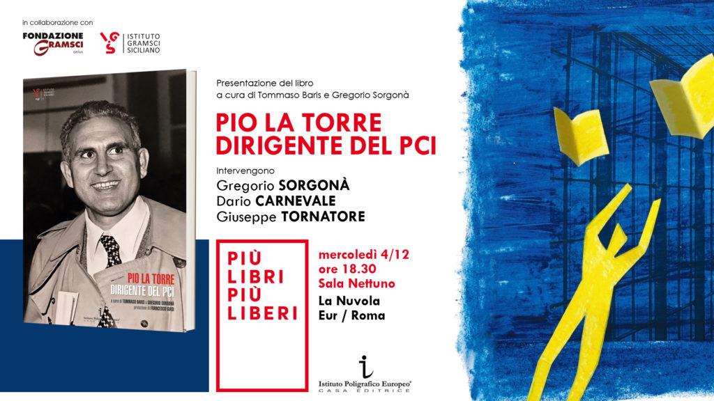 Giuseppe Tornatore a Più libri più liberi presenta Pio La Torre dirigente del PCI
